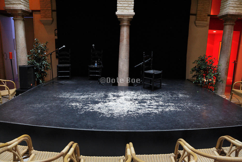 empty stage waiting for a performance