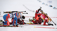 Skiskyting<br /> IBU World Cup<br /> Hochfilzen Østerrike<br /> 08.12.2012<br /> Foto: Gepa/Digitalsport<br /> NORWAY ONLY<br /> <br /> IBU Weltcup, 10km Verfolgung der Damen, Siegerehrung. Bild zeigt Synnøve Solemdal (NOR) Tora Berger (NOR) und Darya Domracheva (BLR)