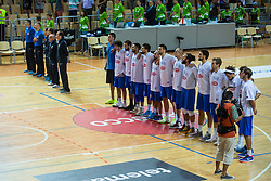 Italian national team during friendly basketball match between National teams of Slovenia and Italy at day 3 of Adecco Cup 2015, on August 23 in Koper, Slovenia. Photo by Grega Valancic / Sportida