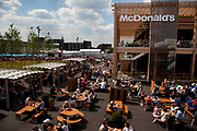 London, UK. Thursday 9th August 2012. London 2012 Olympic Games Park in Stratford. McDonalds fast food restaurant.