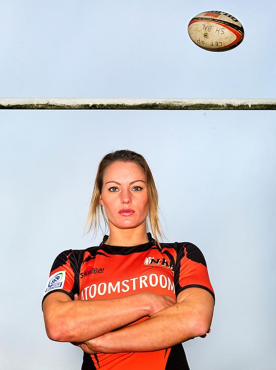 Nederland, Sassenheim, 05-12-2012.<br /> Rugby, Vrouwen.<br /> Kelly van Harskamp, nederlandse speelster van de Bassets is uitgeroepen tot beste vrouwlijke seven's rugby speelster van de wereld.<br /> Foto : Klaas Jan van der Weij