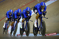 Men Team Pursuit, Italy, during the Track Cycling European Championships Glasgow 2018, at Sir Chris Hoy Velodrome, in Glasgow, Great Britain, Day 1, on August 2, 2018 - Photo Luca Bettini / BettiniPhoto / ProSportsImages / DPPI - Belgium out, Spain out, Italy out, Netherlands out -