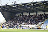 The Wimbledon fans during the EFL Sky Bet League 1 match between Oxford United and AFC Wimbledon at the Kassam Stadium, Oxford, England on 13 April 2019.