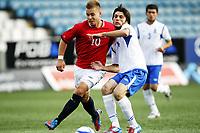 Fotball , 1. juni 2012 , Euro qual. U21 Norge - Azerbaijan 1-0<br /> Norway - Azerbaijan<br /> Marcus Pedersen , Norge<br /> Badavi Guseynov, Azerbaijan
