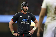 Wales capt Dan Lydiate looks on. Under Armour 2017 series Autumn international rugby, Wales v Georgia at the Principality Stadium in Cardiff , South Wales on Saturday 18th November 2017. pic by Andrew Orchard, Andrew Orchard sports photography