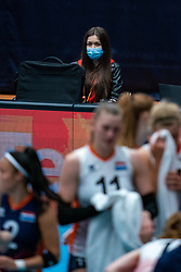 FIVB media editor in action during United States - Netherlands, FIVB U20 Women's World Championship on July 15, 2021 in Rotterdam
