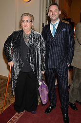 DOMINICK FAIRBANKS and his mother DAPHNE FAIRBANKS at a party to celebrate the publication of  'I Used to be in Pictures' an untold story of Hollywood by Austin Mutti-Mewse and Howard Mutti-Mewse held at The Lansdowne Club, London on 6th March 2014.