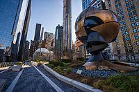 """The Sphere"" Sculpture, Liberty Park"