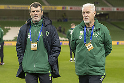 November 15, 2018 - Dublin, Ireland - Irish assistant manager Roy Keane and goalkeepiing coach Seamus McDonagh during the International Friendly match between Republic of Ireland and Northern Ireland at Aviva Stadium in Dublin, Ireland on November 15, 2018  (Credit Image: © Andrew Surma/NurPhoto via ZUMA Press)