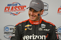 March 23, 2019 - Austin, TX, U.S. - AUSTIN, TX - MARCH 23: Will Power (12) of Team Penske driving a Chevy smiles as he speaks during a press conference following the IndyCar afternoon qualifications at Circuit of the Americas on March 23, 2019 in Austin, Texas. (Photo by Ken Murray/Icon Sportswire) (Credit Image: © Ken Murray/Icon SMI via ZUMA Press)