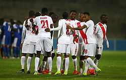 The Free Stat Stars players during the 2016 Premier Soccer League match between Supersport United and The Free Stat Stars held at the King Zwelithini Stadium in Durban, South Africa on the 24th September 2016<br /> <br /> Photo by:   Steve Haag / Real Time Images