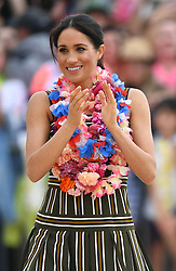 The Duchess of Sussex on Bondi Beach in Sydney during a visit with the Duke of Sussex on the fourth day of the royal couple's visit to Australia.