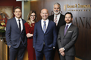 SHOT 1/8/19 12:20:00 PM - Bachus & Schanker LLC lawyers James Olsen, Maaren Johnson, J. Kyle Bachus, Darin Schanker and Andrew Quisenberry in their downtown Denver, Co. offices. The law firm specializes in car accidents, personal injury cases, consumer rights, class action suits and much more. (Photo by Marc Piscotty / © 2018)