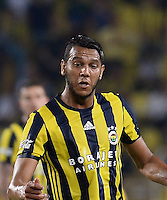 UEFA Champions League Third qualifying round first leg match between Fenerbahce Istanbul and Monaco on July 27, 2016 at the Ulker Stadium in Istanbul,Turkey.<br /> Final Score : Fenerbahce 2 - Monaco 1<br /> Pictured: Jose Fernandao of Fenerbahce .