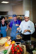 16-10-2015 -  Foto: Kookworkshop met Chef Gianluca Interrante. Genomen tijdens een persreis met de Rocco Forte Invitational op Verdura Golf & Spa Resort in Sciacca (Agrigento), Italië.