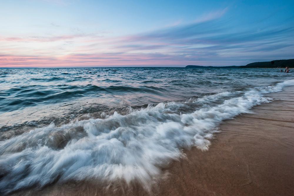 Lake Michigan at Good Harbor Beach of Sleeping Bear Dunes National Lakeshore near Traverse City, Michigan.