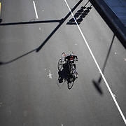 A wheelchair competitor in action during the ING Hartford Marathon, Bushnell Park, Hartford. Connecticut. USA. Hartford, Connecticut, USA. 12th October 2013. Photo Tim Clayton