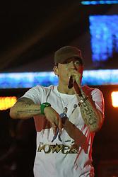 March 12, 2016 - SÃO PAULO, SP - 12.03.2016: LOLLAPALOOZA BRASIL 2016 – Primeiro dia do Festival Lollapalooza 2016 que ocorreu em São Paulo-SP neste sábado (12) no Autódromo de Interlagos Zona Sul da Capital. Na   apresentação do Rapper Eminem.  : Jales Valquer /  arena) (Credit Image: © Jales Valquer/Fotoarena via ZUMA Press)