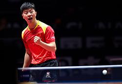 SHENZHEN, June 2, 2018  Ma Long of China celebrates during the men's singles quarterfinal match against Liang Jingkun of China at the 2018 ITTF World tour China Open in Shenzhen, south China's Guangdong Province, June 2, 2018.  Ma Long won 4-3. (Credit Image: © Mao Siqian/Xinhua via ZUMA Wire)