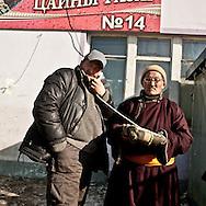 Mongolia. Ulaanbaatar. Narantuul market, in winter  Ulan Baatar  / le grand Marche de Narantuul dans le grand froid en hiver  Oulan Bator - Mongolie