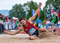 25.05.2018, Moeslestadion, Götzis, AUT, 45. Hypo Meeting Goetzis, Zehnkampf Herren, im Bild Luca Bernaschina (SUI) beim Weitsprung // Luca Bernaschina of Switzerland during the long jump of the 45th Hypo Athletics Meeting at the Moeslestadion in Götzis, Austria on 2018/05/25. EXPA Pictures © 2019, PhotoCredit: EXPA/ Peter Rinderer