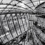 Touring the Kauffman Center and its construction progress in late January 2011.