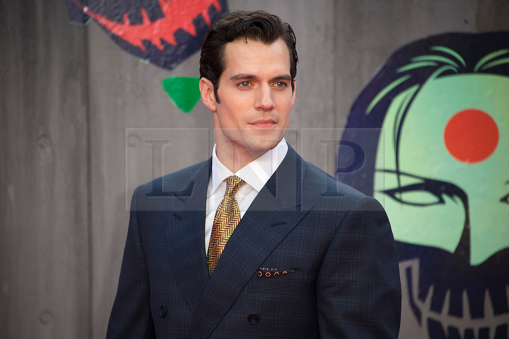 © Licensed to London News Pictures. 03/08/2016. HENRY CAVILL attends the Suicide Squad UK Film Premiere  London, UK. Photo credit: Ray Tang/LNP