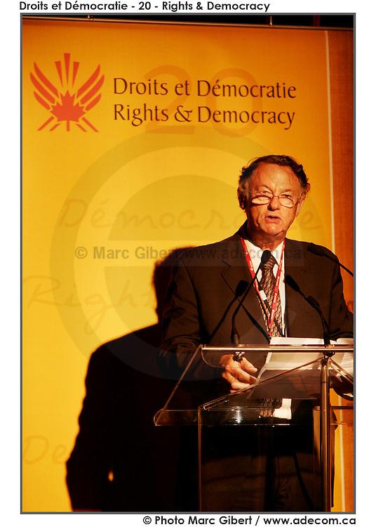 20ème anniversaire de Droits et Démocratie. 20th aniversary of Rights and Democracy, Le Lion d'Or, Québec, Canada, 2008, 06, 25, © Photo Marc Gibert / adecom.ca