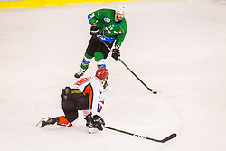 Koren Gal during Hockey match between SZ HD Olimpija and HDD Jesenice in 4tht match of Quarterfinals of Alps Hockey League, on March 13, 2018 in Hala Tivoli, Ljubljana, Slovenia. Photo by Ziga Zupan / Sportida