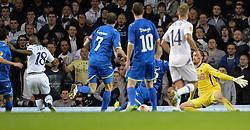 19.09.2013, White Hart Lane, London, ENG, UEFA Champions League, Tottenham Hotspur vs Toromsoe IL, Gruppe K, im Bild Tottenham's Jermain Defoe scores a goal during UEFA Champions League group K match between Tottenham Hotspur vs Toromsoe IL at the White Hart Lane, London, United Kingdom on 2013/09/19 . EXPA Pictures © 2013, PhotoCredit: EXPA/ Mitchell Gunn <br /> <br /> ***** ATTENTION - OUT OF GBR *****