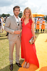 JACK & KATE FREUD at the Veuve Clicquot Gold Cup Final at Cowdray Park Polo Club, Midhurst, West Sussex on 20th July 2014.