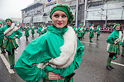 Moscow, Russia, 21/03/2010..Irish dancers in central Moscow as several thousand people attend the 19th annual Moscow St Patrick's Day parade.