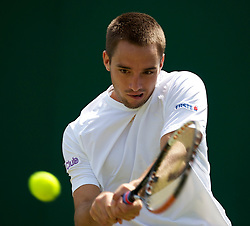 LONDON, ENGLAND - Wednesday, June 23, 2010: Viktor Troicki (SRB) during the Gentlemen's Singles 2nd Round on day three of the Wimbledon Lawn Tennis Championships at the All England Lawn Tennis and Croquet Club. (Pic by David Rawcliffe/Propaganda)