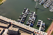 Nederland, Noord-Holland, Amsterdam, 14-06-2012; Steigereiland, IJburg, drijvende huizen aan de Brigantijnkade..New constructed urban development, residential district IJburg , floating houses, detail..luchtfoto (toeslag), aerial photo (additional fee required).foto/photo Siebe Swart