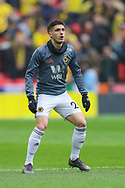 Wolverhampton Wanderers defender Ruben Vinagre (29) warms up during the The FA Cup semi-final match between Watford and Wolverhampton Wanderers at Wembley Stadium, London, England on 7 April 2019.