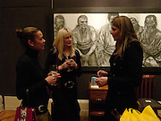 Kathy Erasmus, Tamsin Travis and Gabriela Gordon, 'Shades of Grey', exhibition of new paintings and drawings by Emma Sergeant. 148 New Bond St. 1 November 2004. ONE TIME USE ONLY - DO NOT ARCHIVE  © Copyright Photograph by Dafydd Jones 66 Stockwell Park Rd. London SW9 0DA Tel 020 7733 0108 www.dafjones.com