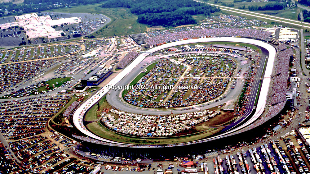 Aerial view of Dover Downs International Raceway, Dover Delaware Aerial view of Dover International Speedway as seen in 1993, Dover Delaware