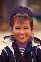 """Black Hmong girl, Sapa, Vietnam<br /> Available as Fine Art Print in the following sizes:<br /> 08""""x12""""US$   100.00<br /> 10""""x15""""US$ 150.00<br /> 12""""x18""""US$ 200.00<br /> 16""""x24""""US$ 300.00<br /> 20""""x30""""US$ 500.00"""