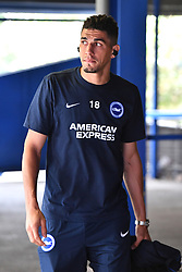 """Brighton & Hove Albion's Leon Balogun arrives ahead of the pre-season friendly match at the St Andrew's Trillion Trophy Stadium, Birmingham. PRESS ASSOCIATION Photo. Picture date: Saturday July 28, 2018. See PA story SOCCER Birmingham. Photo credit should read: Anthony Devlin/PA Wire. RESTRICTIONS: EDITORIAL USE ONLY No use with unauthorised audio, video, data, fixture lists, club/league logos or """"live"""" services. Online in-match use limited to 75 images, no video emulation. No use in betting, games or single club/league/player publications."""
