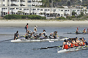 San Diego, California. USA. General Views, Crews boating from the beach. 2013 Crew Classic Regatta, Mission Bay.  11:19:59.  Saturday  06/04/2013   [Mandatory Credit. Peter Spurrier/Intersport Images]  ..