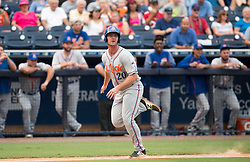 August 10, 2017 - Florida, U.S. - CHARLIE KAIJO   |   Times.St. Lucie Mets designated hitter Peter Alonso (20) runs home for a score during a game against the Tampa Yankees at Steinbrenner Field Tampa, Fla. on Thursday, August 10, 2017. (Credit Image: © Charlie Kaijo/Tampa Bay Times via ZUMA Wire)