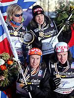 Hopp<br /> VM skiflygning 2006<br /> Bad Mitterndorf / Kulm<br /> 15.01.2006<br /> Lagkonkurranse<br /> Foto: Gepa/Digitalsport<br /> NORWAY ONLY<br /> <br /> Det norske vinnerlaget:  Bjørn Einar Romøren - Roar Ljøkelsøy - Lars Bystøl og Tommy Ingebrigtsen