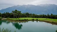 MIEMING - Tirol Oostenrijk ,  - hole 9    Golf Park Mieminger Plateau.   COPYRIGHT KOEN SUYK