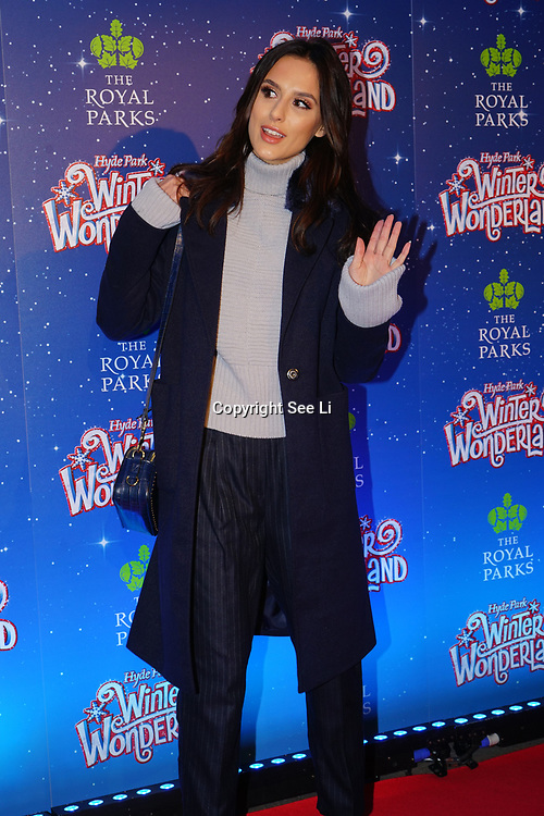 London, England, UK. 16th November 2017. Lucy Watson attend the VIP launch of Hyde Park Winter Wonderland 2017 for a preview. tomorrow is opening for the public