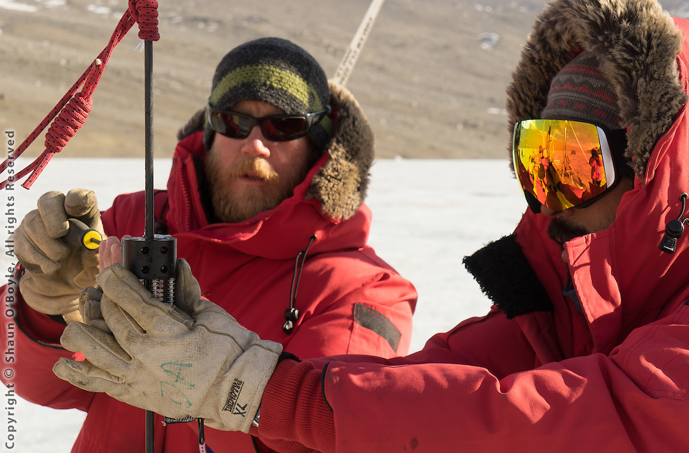 Scientists working at Lake Bonney