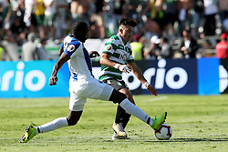 May 25, 2019 - Oeiras, Portugal - OEIRAS, PORTUGAL - MAY 25: Porto's forward Moussa Marega from Mali (L ) vies with Sporting's forward Marcos Acuna from Argentina (R ) during the Portugal Cup Final football match Sporting CP vs FC Porto at Jamor stadium, on May 25, 2019, in Oeiras, outskirts of Lisbon, Portugal. (Credit Image: © Pedro Fiuza/NurPhoto via ZUMA Press)