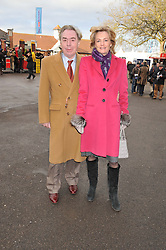 ANDREW & MADELEINE LLOYD WEBBER at the 2012 Hennessy Gold Cup at Newbury Racecourse, Berkshire on 1st December 2012