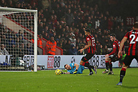 Football - 2019 / 2020 Premier League - AFC Bournemouth vs. Arsenal<br /> <br /> Bournemouth's Callum Wilson pounces on the loose ball to tap in from close range only for his goal to be disallowed for offside at the Vitality Stadium (Dean Court) Bournemouth <br /> <br /> COLORSPORT/SHAUN BOGGUST