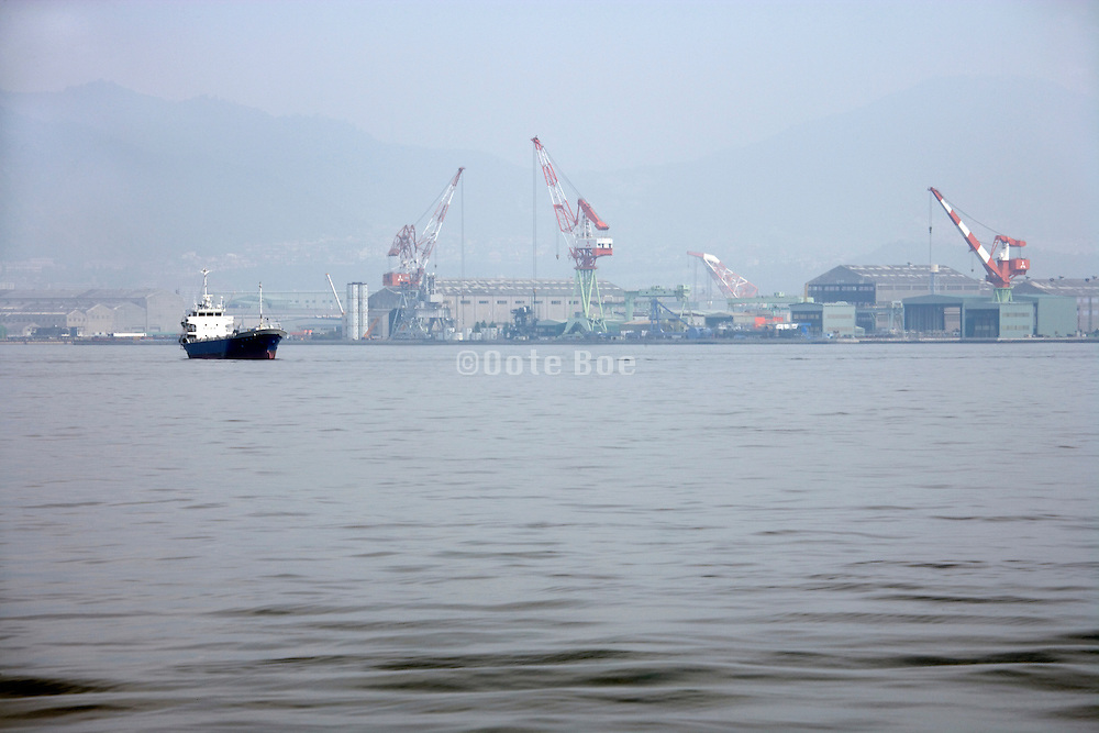 industrial sea harbor by Hiroshima