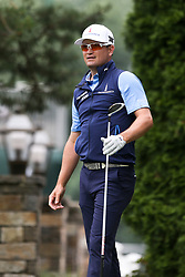 June 23, 2018 - Cromwell, Connecticut, United States - Zach Johnson watches his tee shot off the 9th hole during the third round of the Travelers Championship at TPC River Highlands. (Credit Image: © Debby Wong via ZUMA Wire)